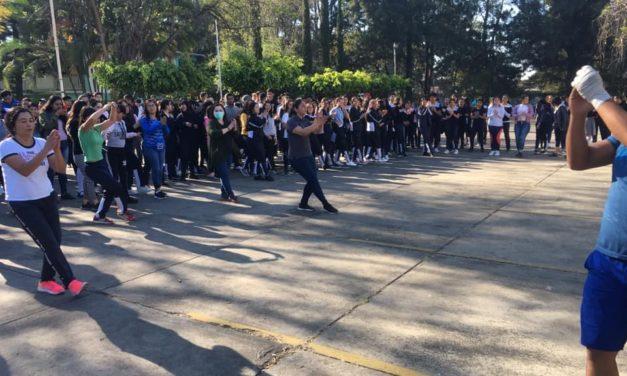 Más de 450 alumnos de la EPLC, participaron en Jornada de Activación Física