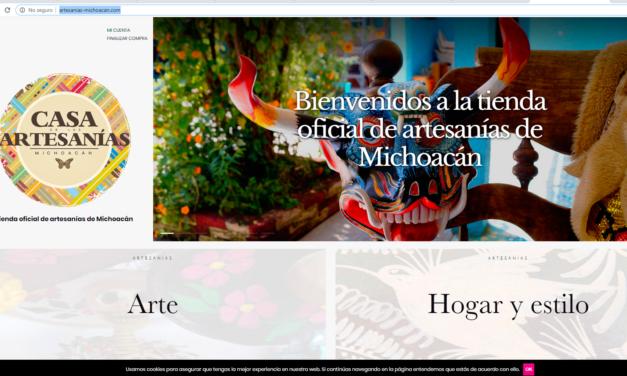 Artesanías de Michoacán están a la venta en tienda virtual