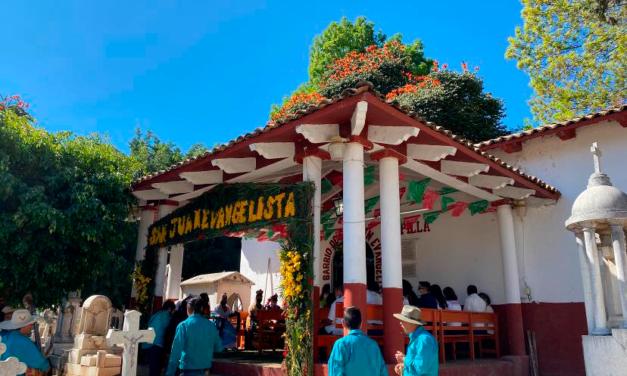 Barrio de San Juan Evangelista celebró a su santo patrono con mayor devoción