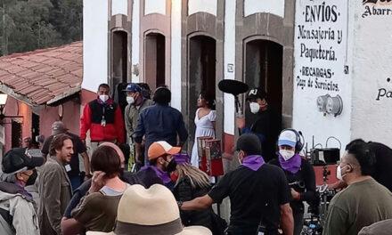 Yalitza Aparicio filma película en Tlalpujahua