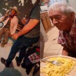 """Familia """"adopta"""" a un abuelito de 108 años que dormía bajo un árbol"""