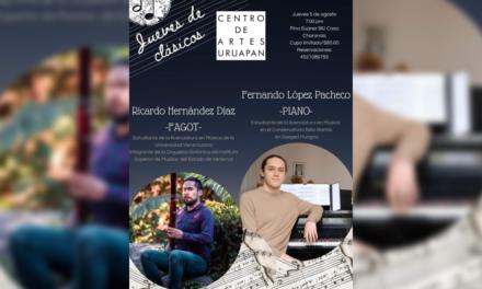 Jueves de clásicos en el Centro de Artes Uruapan